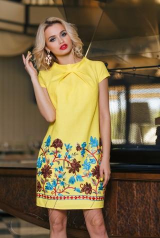 Платье Инга  жёлтый