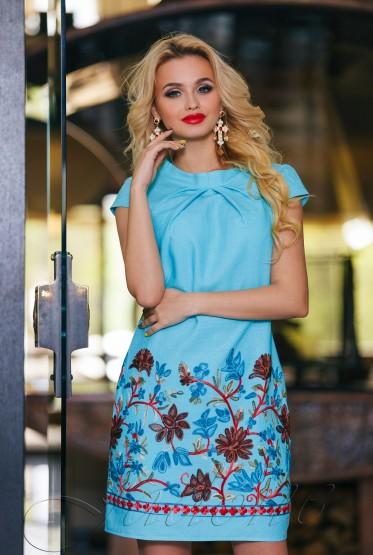 Платье Инга  бирюзовый