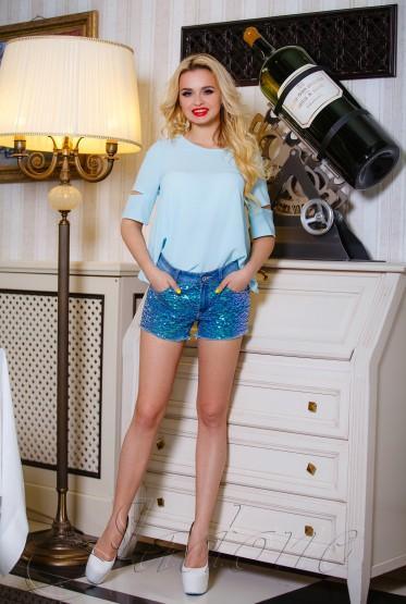 Блуза Калипсо  голубой