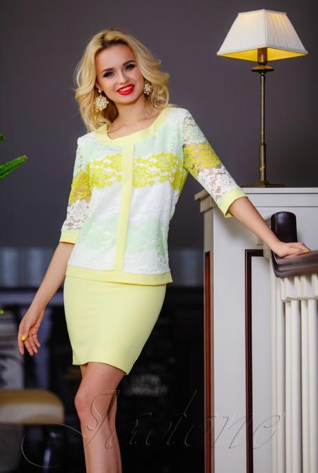 Костюм Лоретти жёлтый+жёлтый