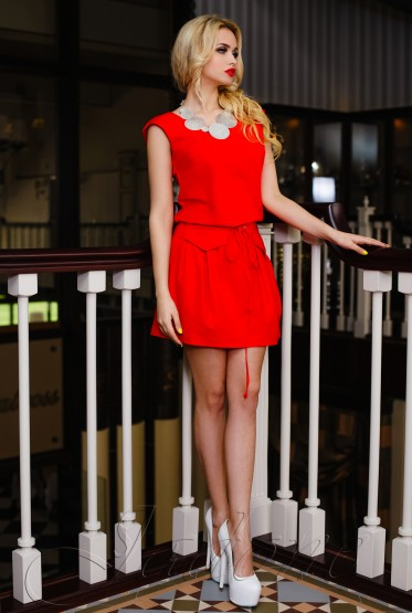 Платье Alben red