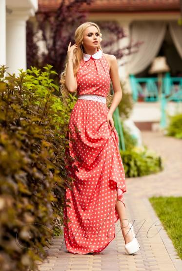 Платье Мадрид персиковый