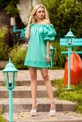 Платье Шанту  бирюзовый