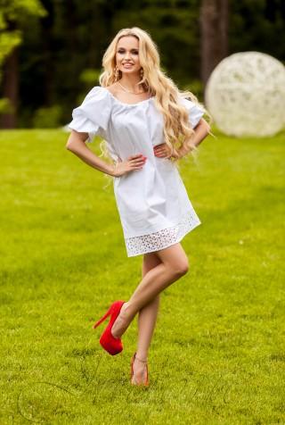 Платье Шанту  белый