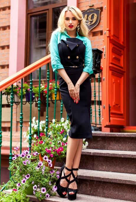 Платье Фике бирюзовый