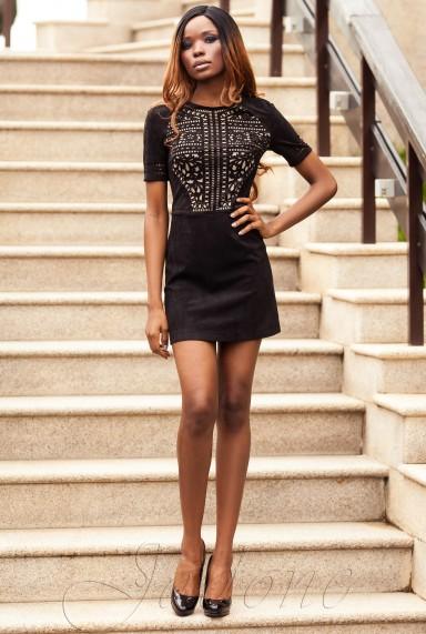 Платье Луиза черный