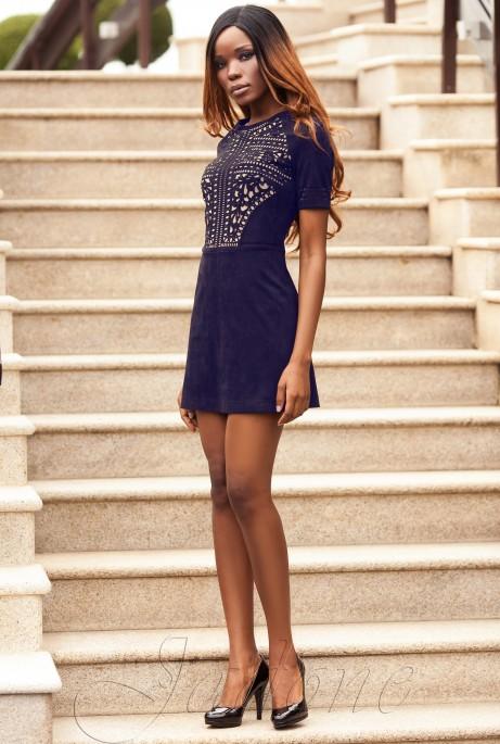 Платье Луиза тёмно-синий