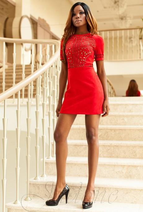 Платье Луиза красный