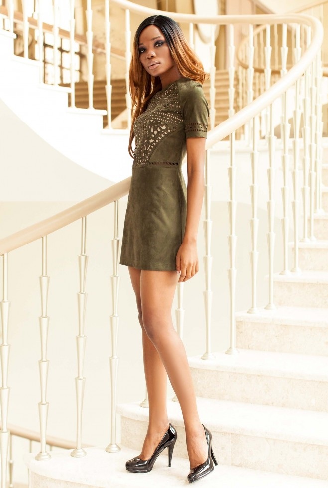 Платье Луиза хаки Жадон