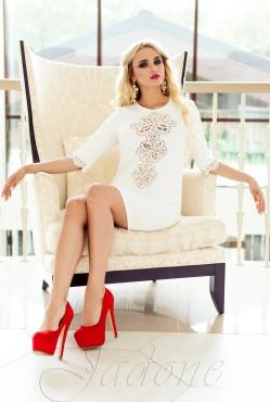 Tunic dress-Alania white