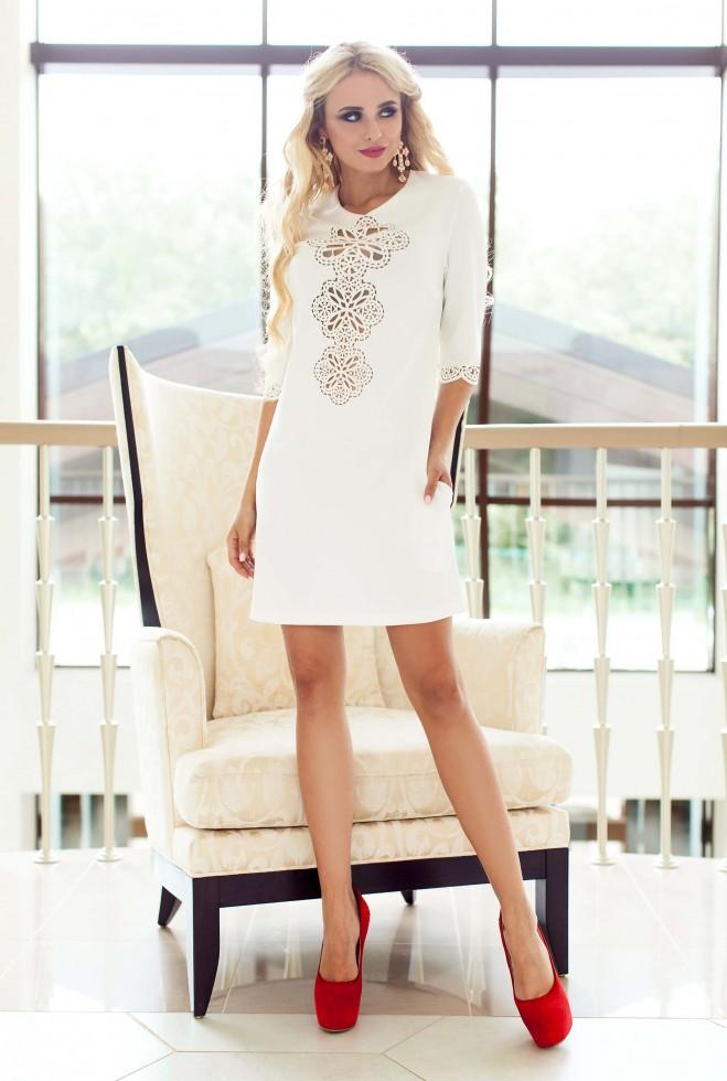 Туника-платье Алания_1 белый