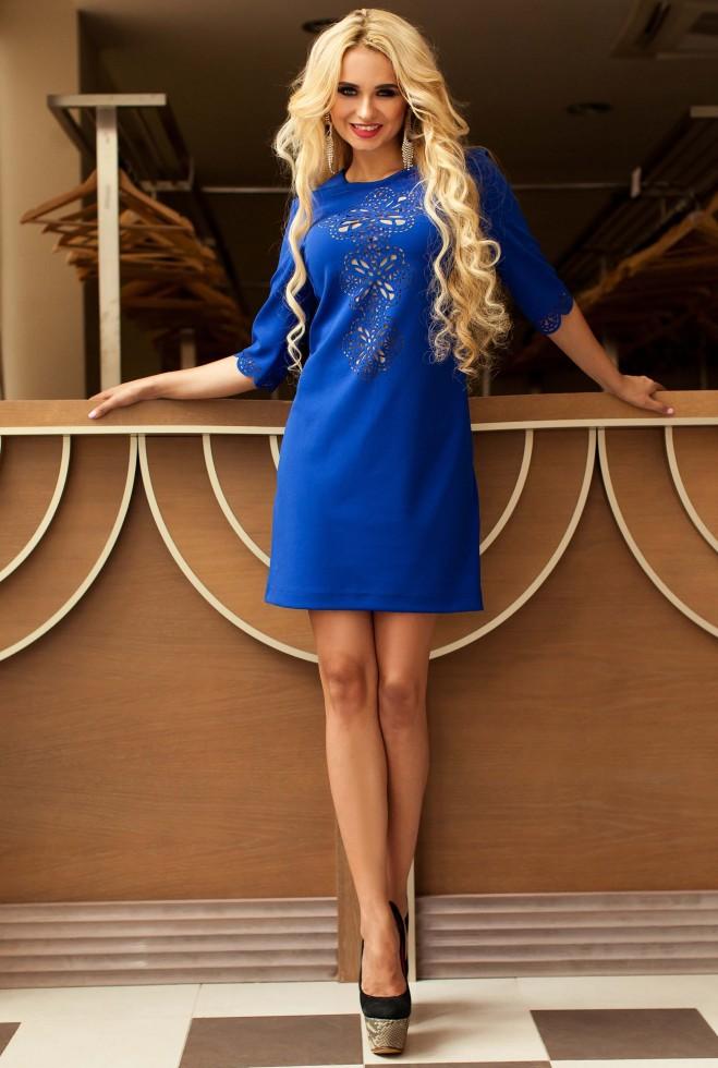 Туника-платье Алания_1 электрик
