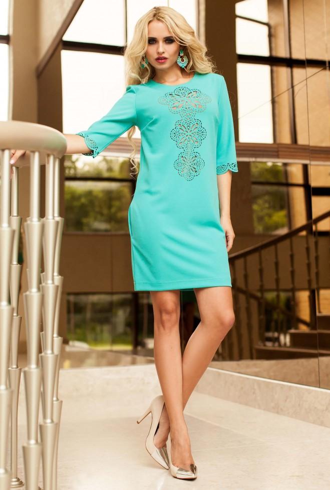 Туника-платье Алания_1 бирюзовый