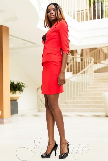 Suit Yasmin V1 (Jacket + Skirt) red