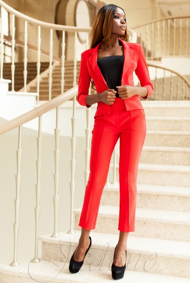 Yasmin 2 Suits (Jacket + Pants) red