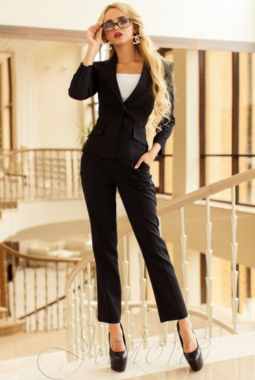 Yasmin 2 Suits (Jacket + Pants) black