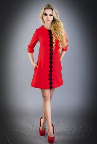 Платье Офелия  красный