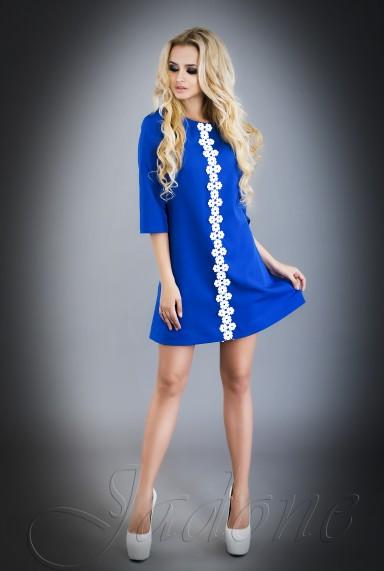 Платье Офелия  электрик