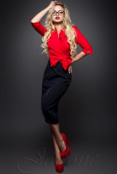 Платье Дора  красный