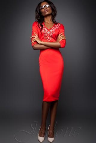 Платье Виола  красный
