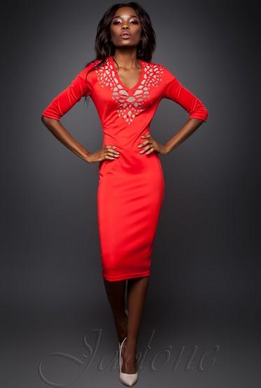 Dress Viola red