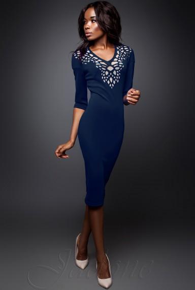 Платье Виола  тёмно-синий