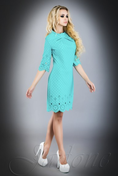 Платье - туника Лорин  бирюзовый