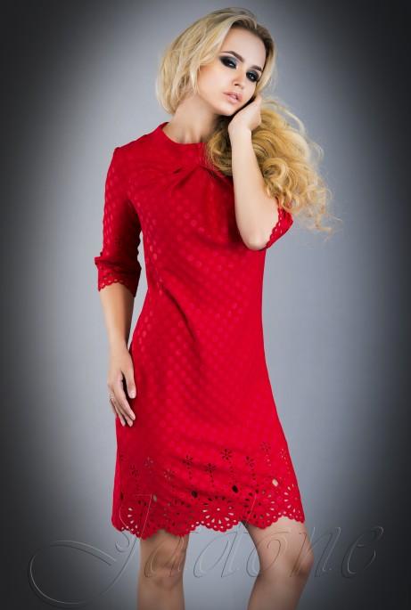 Платье - туника Лорин  красный
