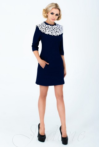 Платье Парма тёмно-синий