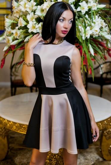 Платье Эмели бежевый