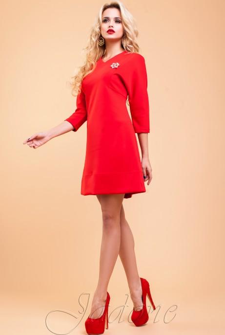 Туника-платье Шалли красный