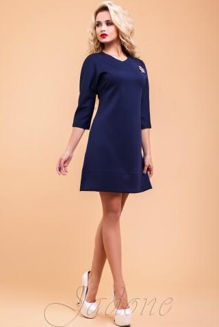 Туника-платье Шалли тёмно-синий