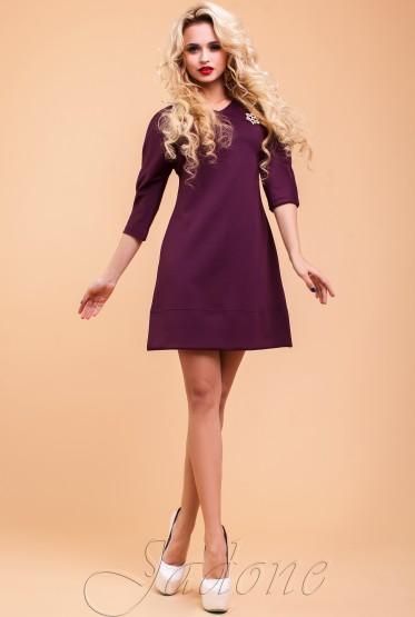 Туника-платье Шалли слива
