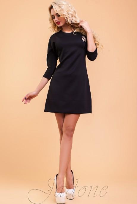 Туника-платье Шалли черный