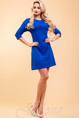 Туника-платье Шалли электрик