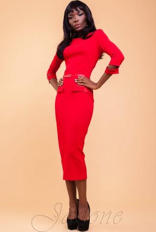 Платье Ненси красный