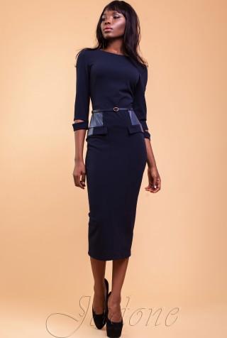 Платье Ненси тёмно-синий