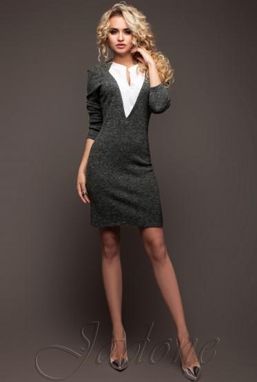 Платье Женим  серый
