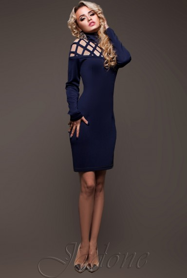 Платье Тресси_2 тёмно-синий