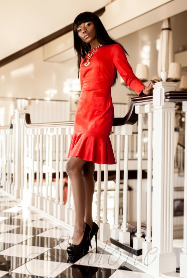 Платье Харси красный