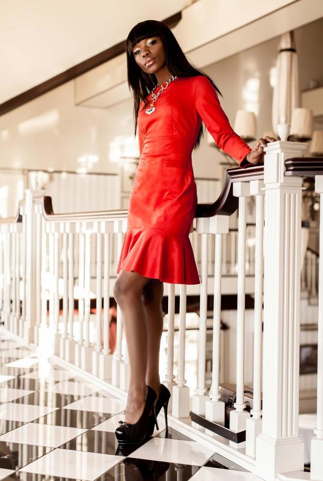 Платье Харси красный Жадон