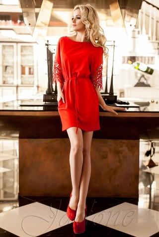 Платье-туника Кобби  красный