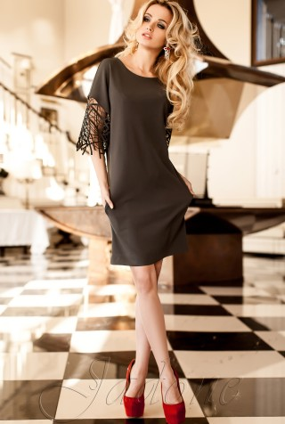 Платье-туника Кобби_1 серый