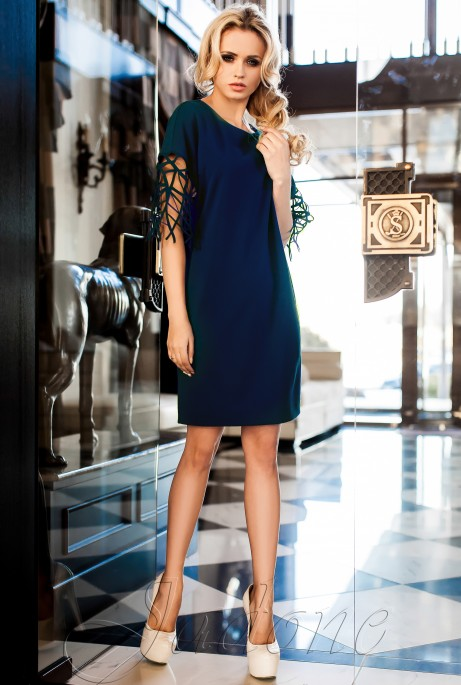 Платье-туника Кобби_1 тёмно-синий