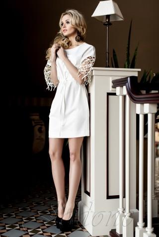 Платье-туника Кобби  молочный