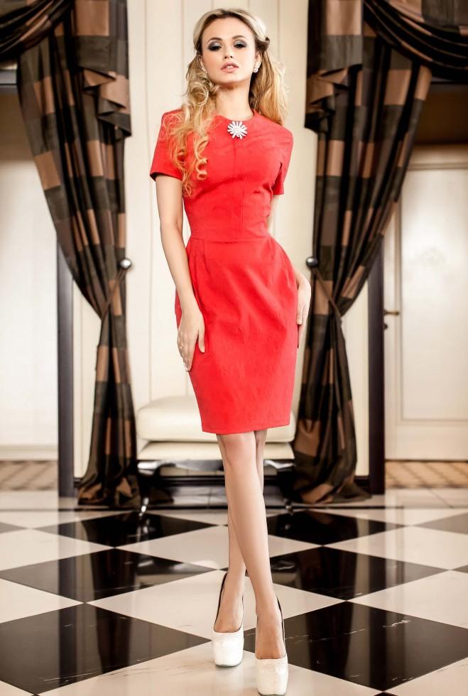 Платье Мовалли коралловый