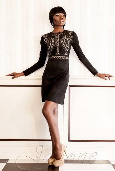 Платье Конэл черный