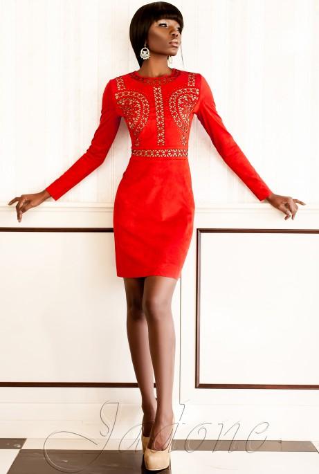 Платье Конэл красный