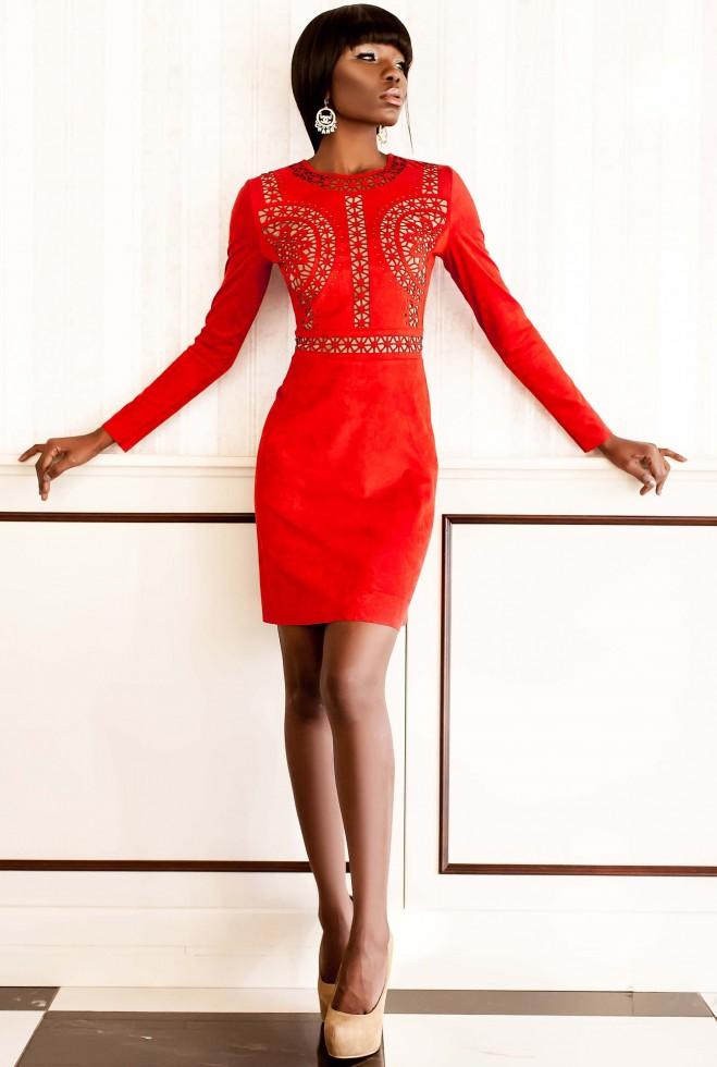 Платье Конэл красный Жадон