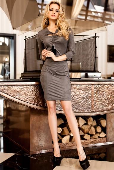 Платье Фукси  серый